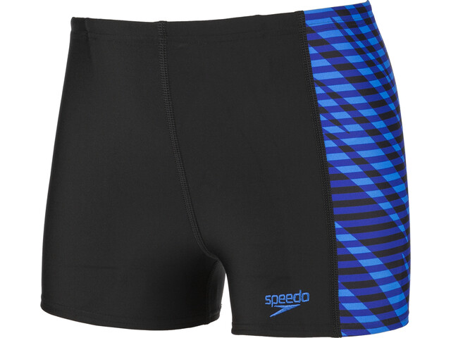 speedo Allover Panel Bañador Niños, black/blue